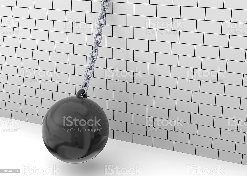 Wrecking Ball - 3D stock photo