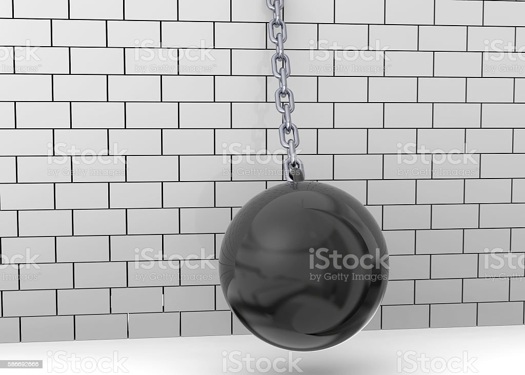 Wrecking Ball - 3D stock photo