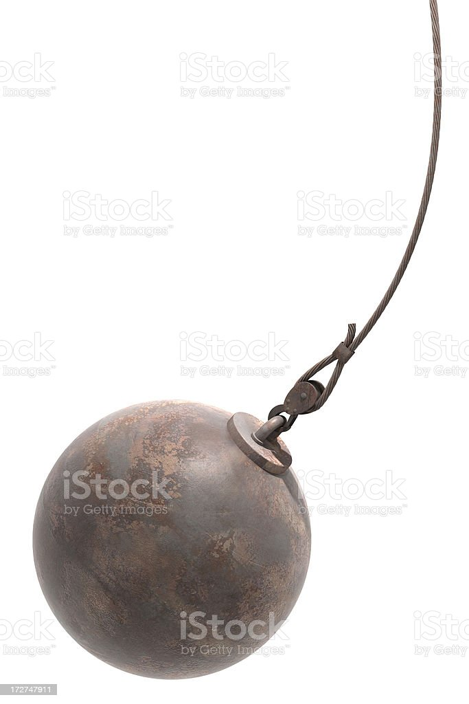 Wrecking ball royalty-free stock photo