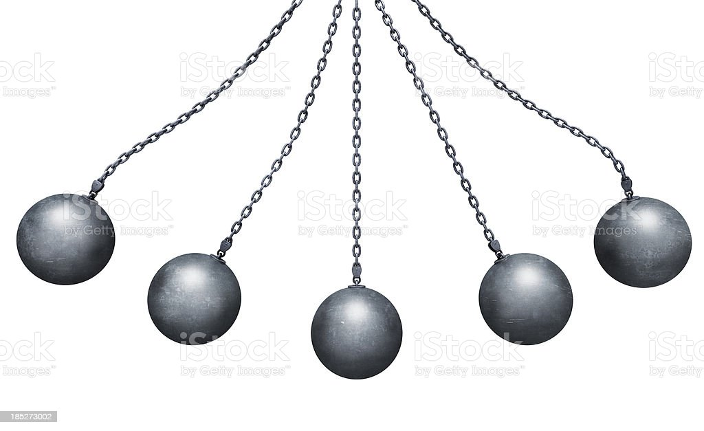 Wrecking balls stock photo