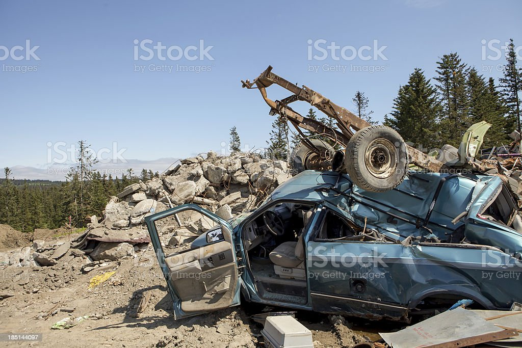 Wrecks at the dump royalty-free stock photo