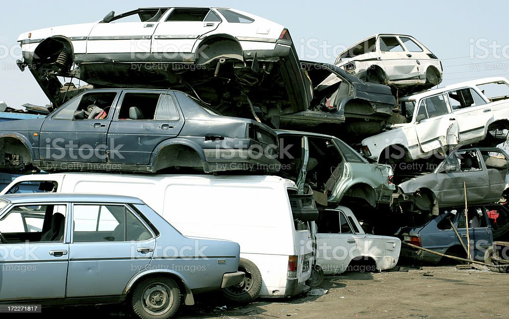 Wrecks stock photo