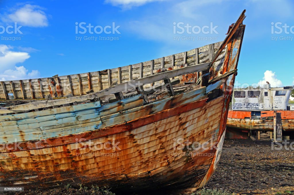 Wrecks stock photo