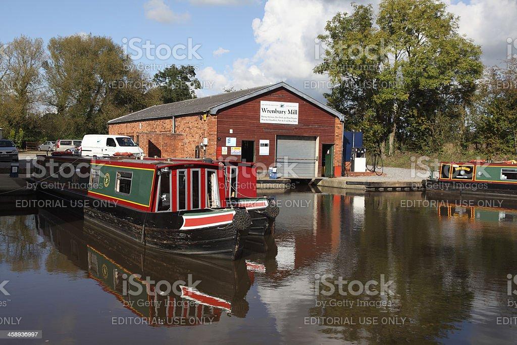 Wrenbury Mill stock photo