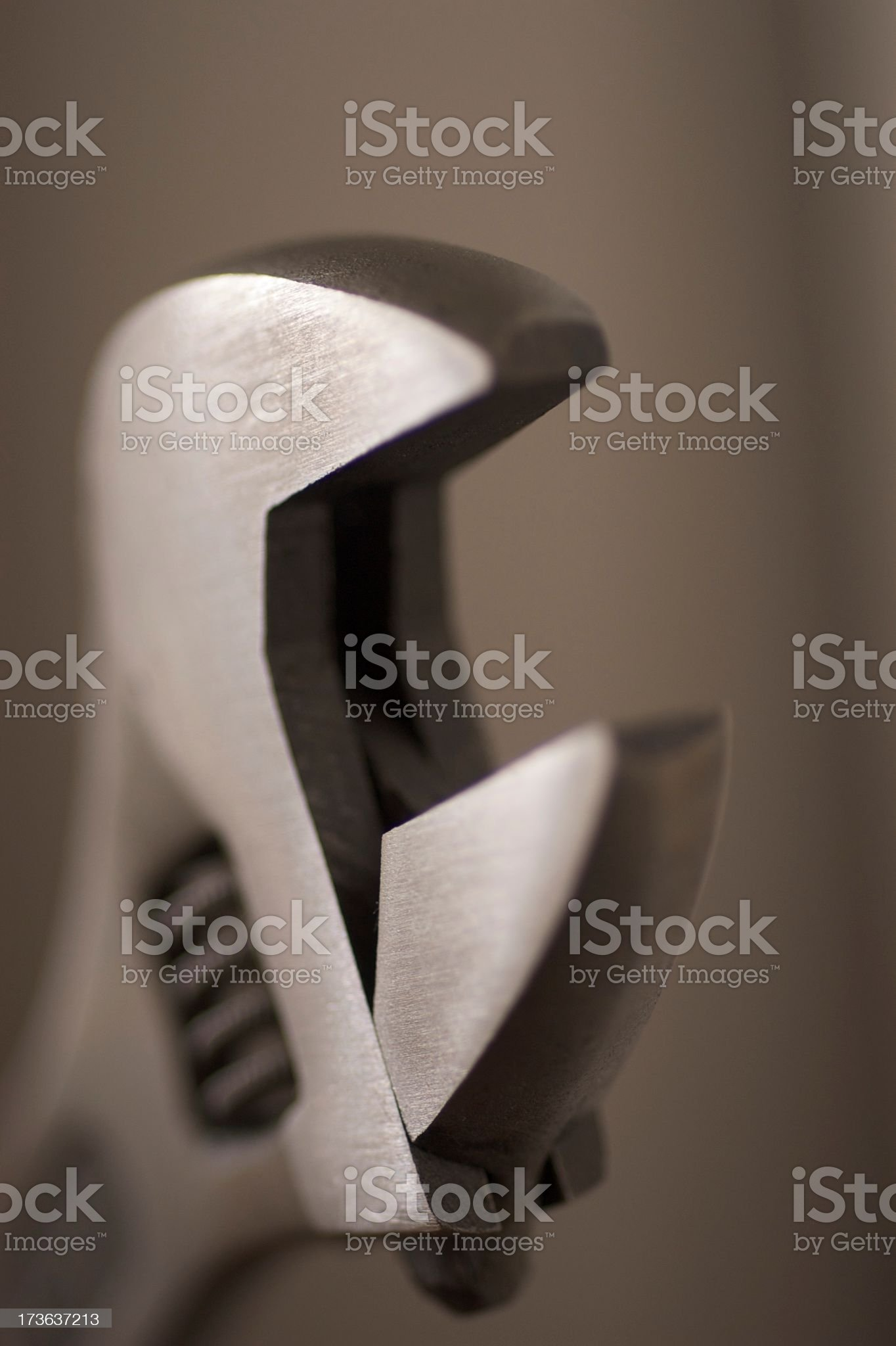 Wrench close up open royalty-free stock photo