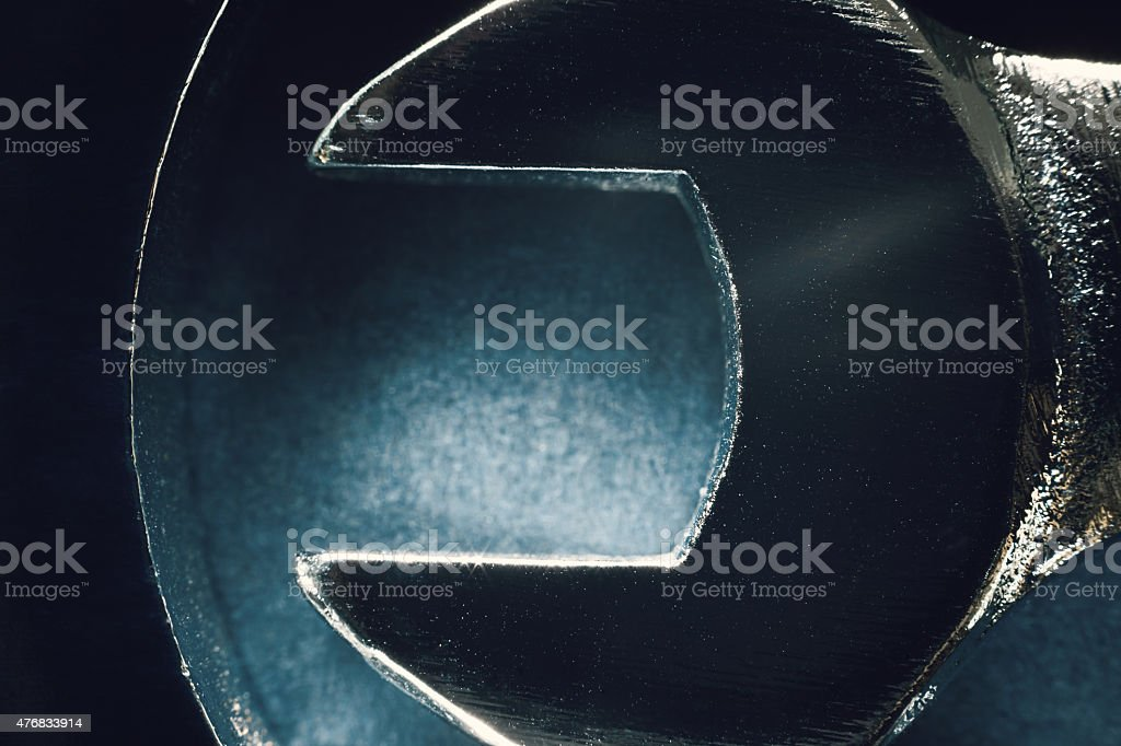 Wrench Details stock photo