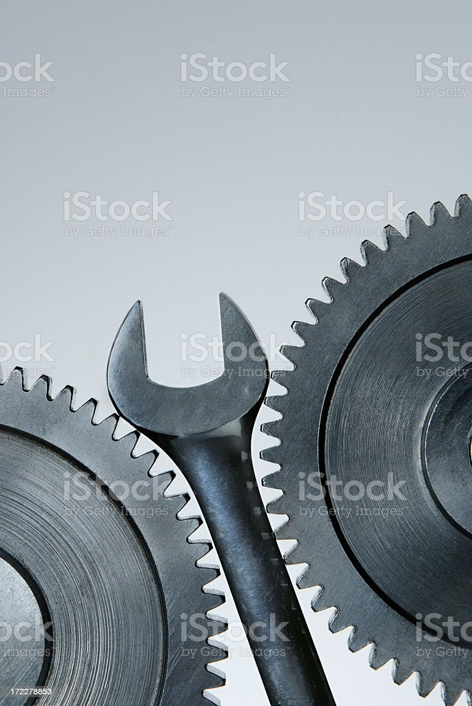 Wrench in the Works royalty-free stock photo