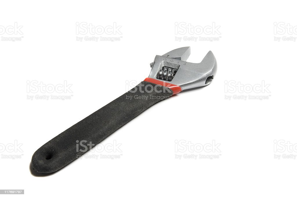 Wrench isolated royalty-free stock photo
