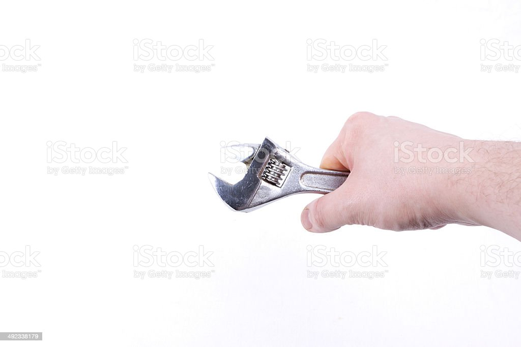 wrench on a white background royalty-free stock photo