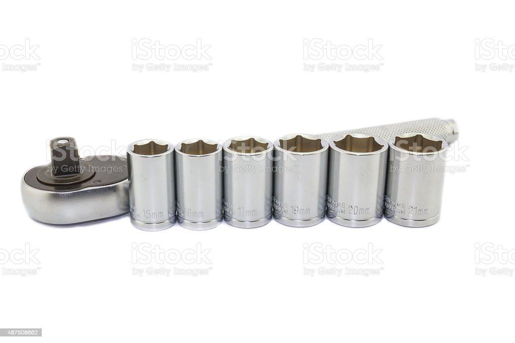 Wrench ratchet stock photo