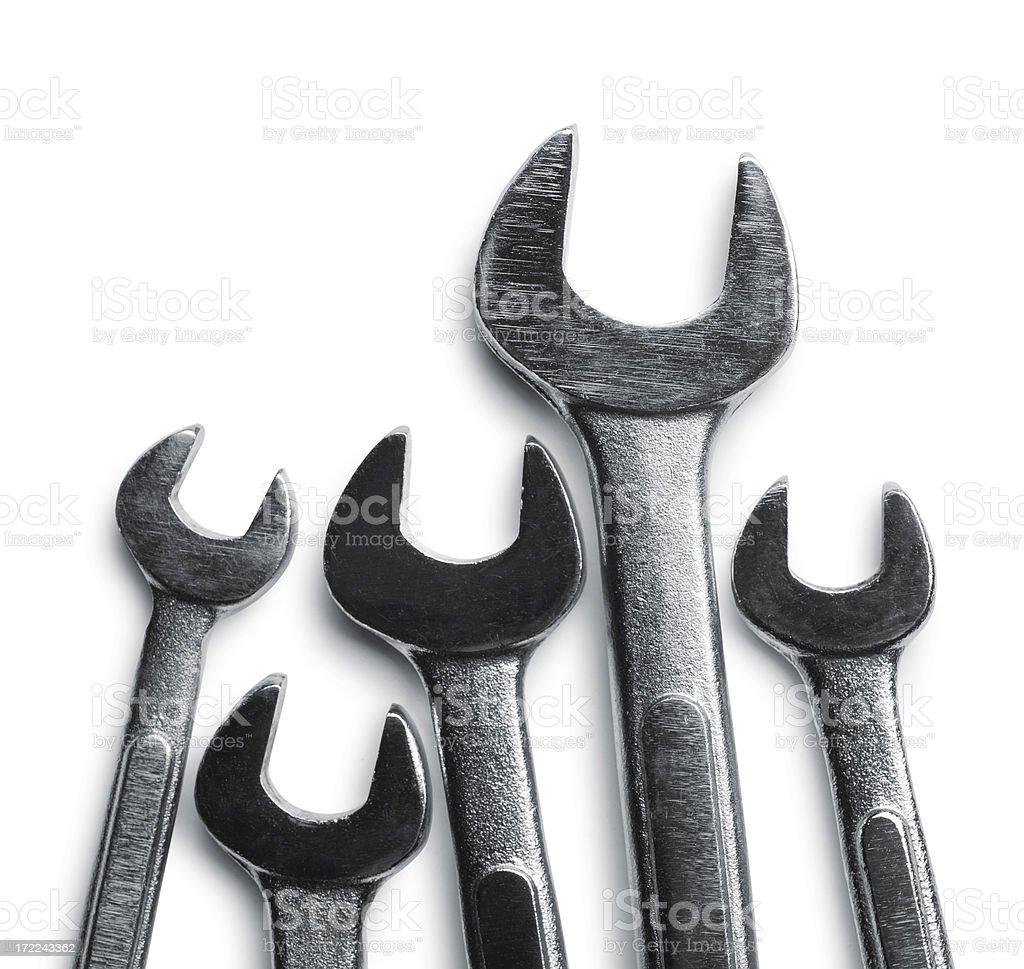 Wrenches royalty-free stock photo