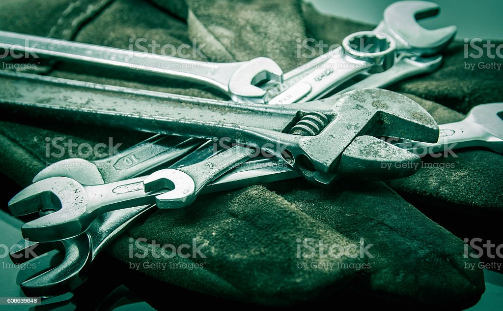 Wrenches tool stock photo