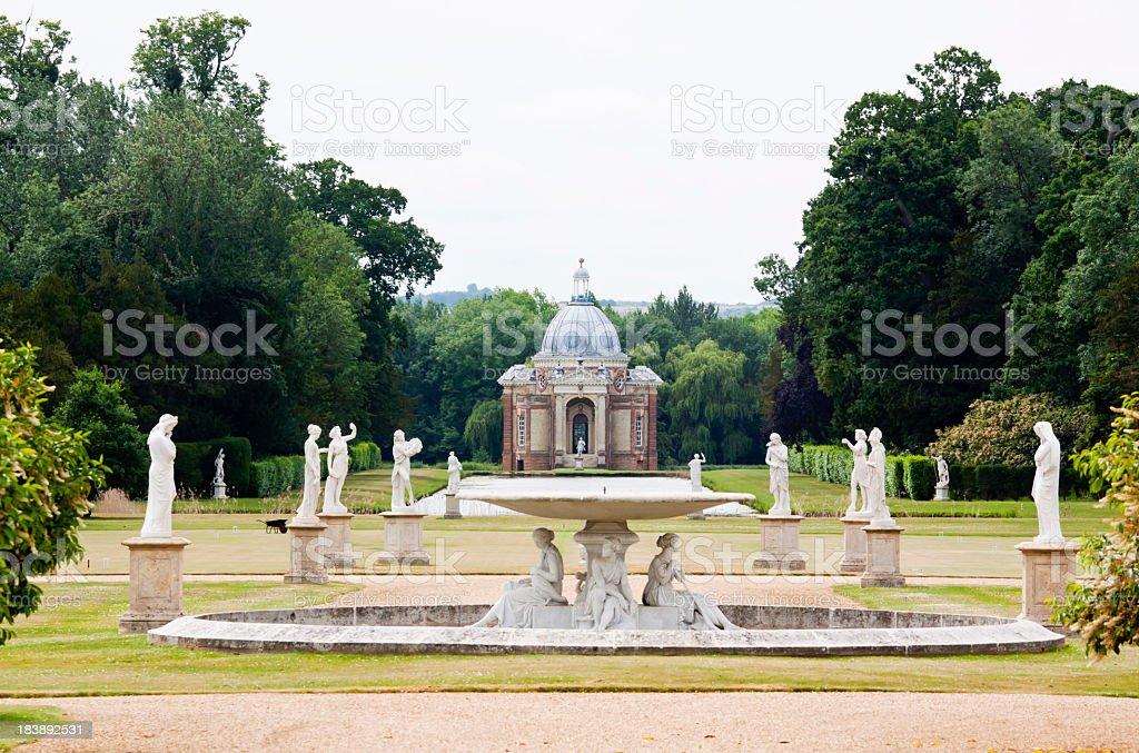 Wrest Park Gardens royalty-free stock photo