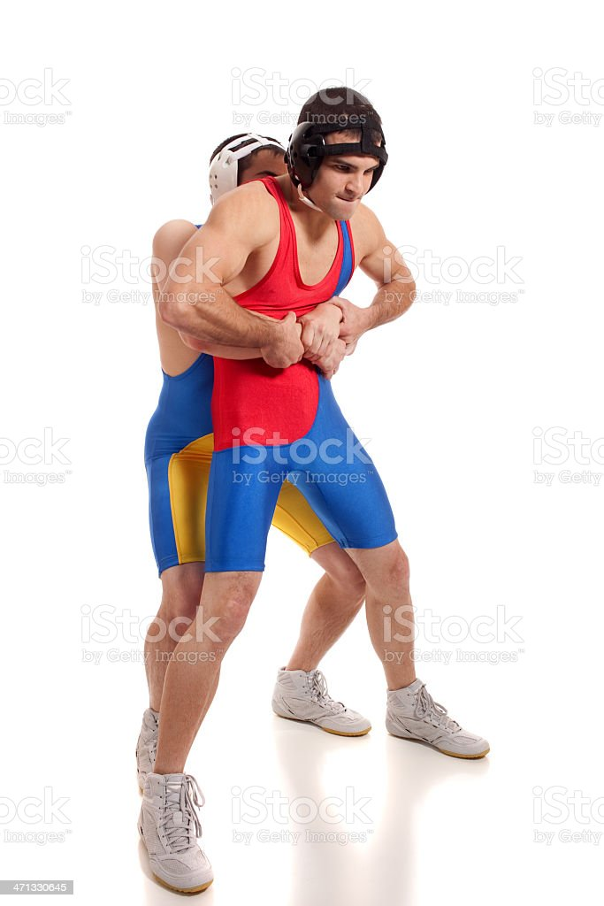 Wrestlers stock photo