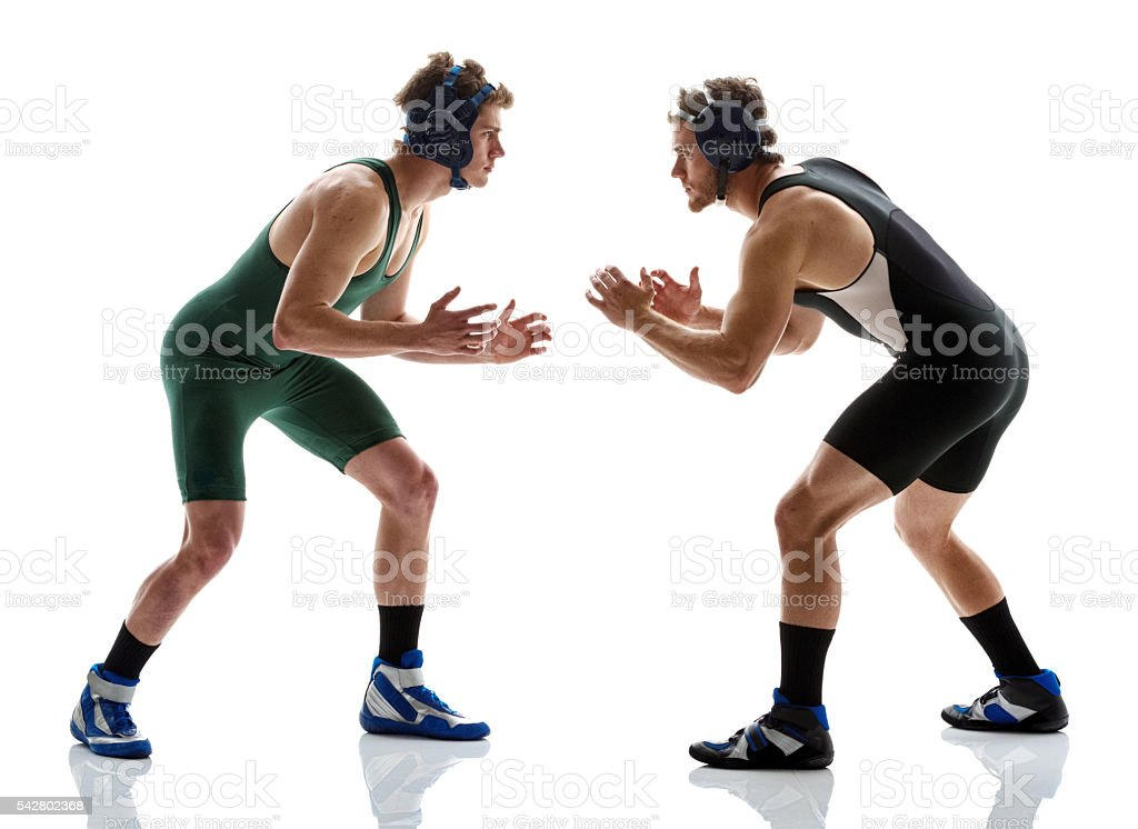 Wrestlers wrestling stock photo