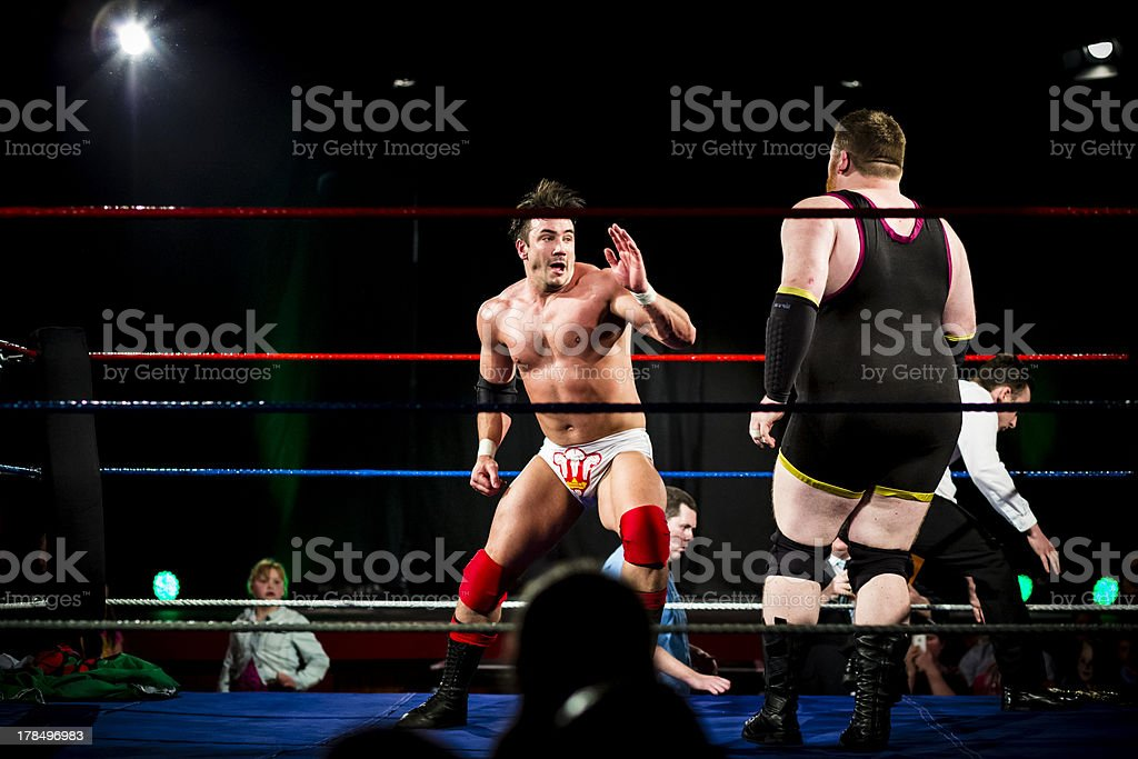 Wrestling fight stock photo