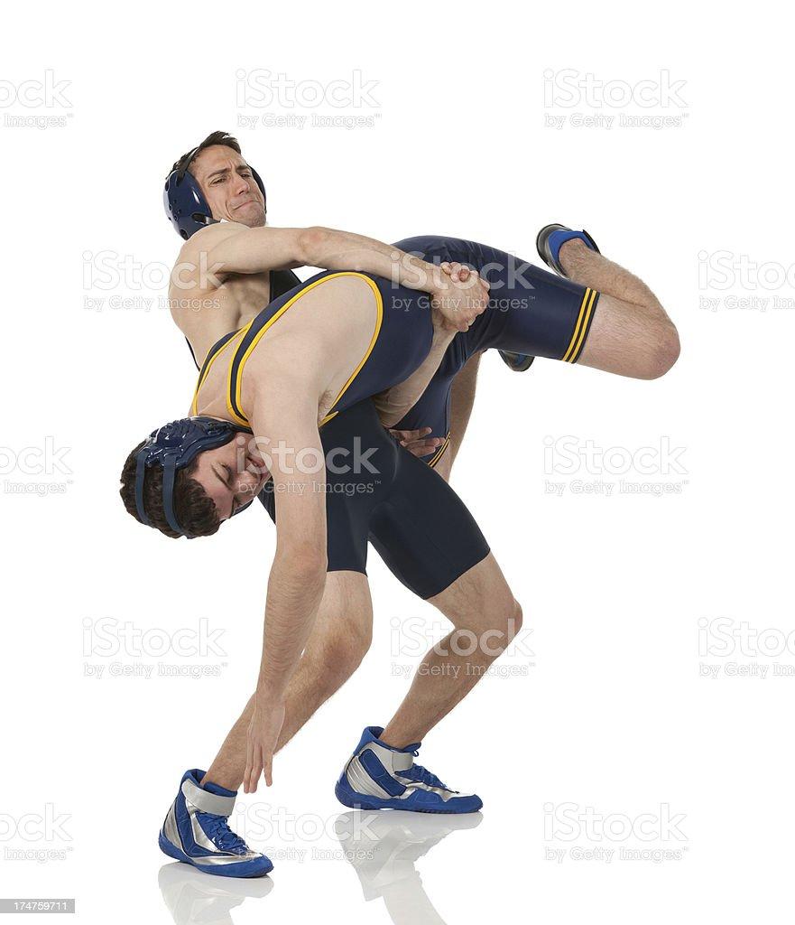 Wrestling match in progress royalty-free stock photo