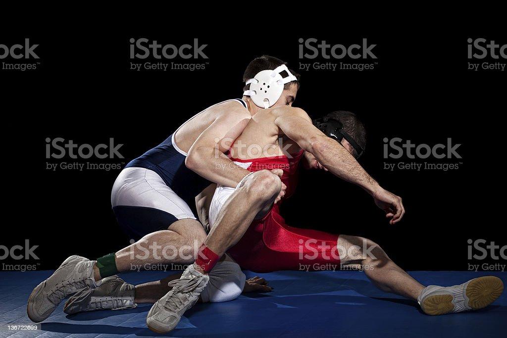 Wrestling stock photo