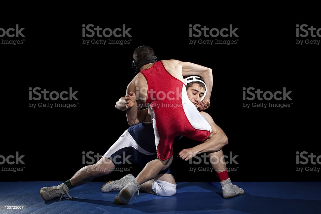 Wrestling stock photo