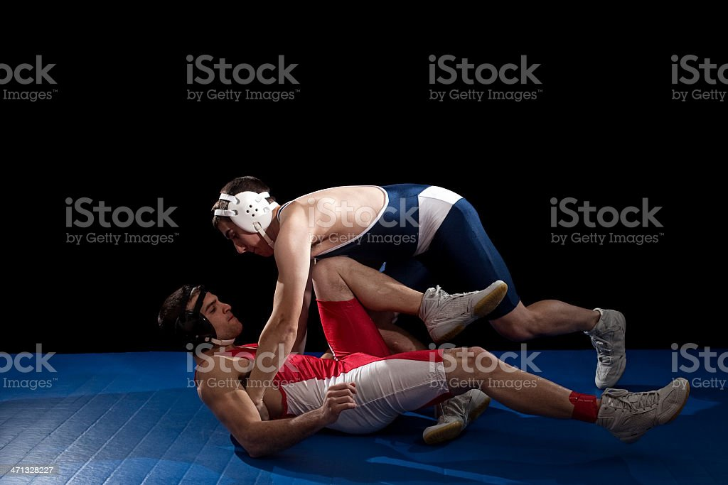 Wrestling royalty-free stock photo