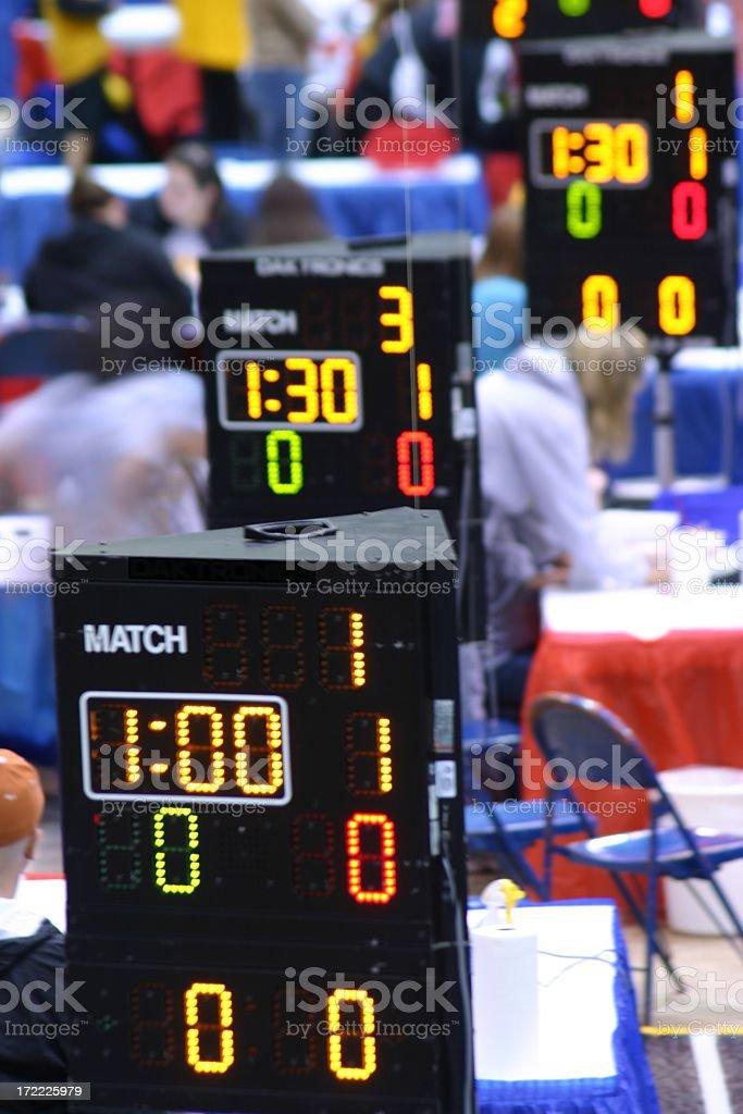 Wrestling Sport Clocks royalty-free stock photo