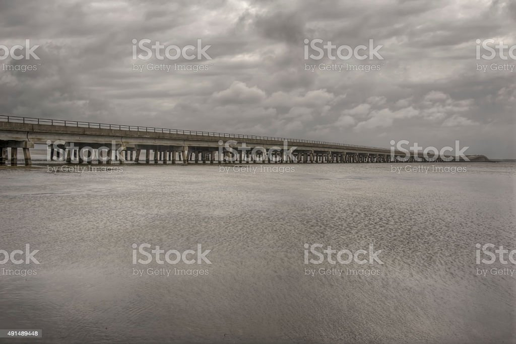 Wright Memorial Bridge stock photo