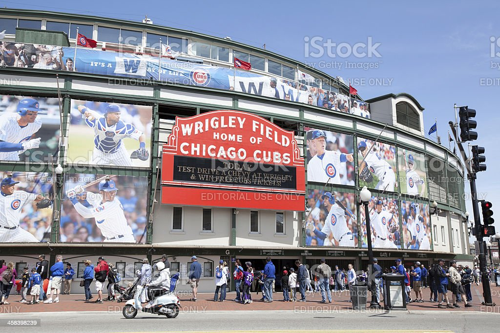 Wrigley Field Stadium in Chicago royalty-free stock photo