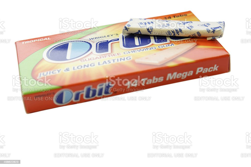 Wrigley's orbit tropical chewing gum royalty-free stock photo