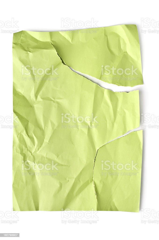 Wrinkled and torn paper royalty-free stock photo