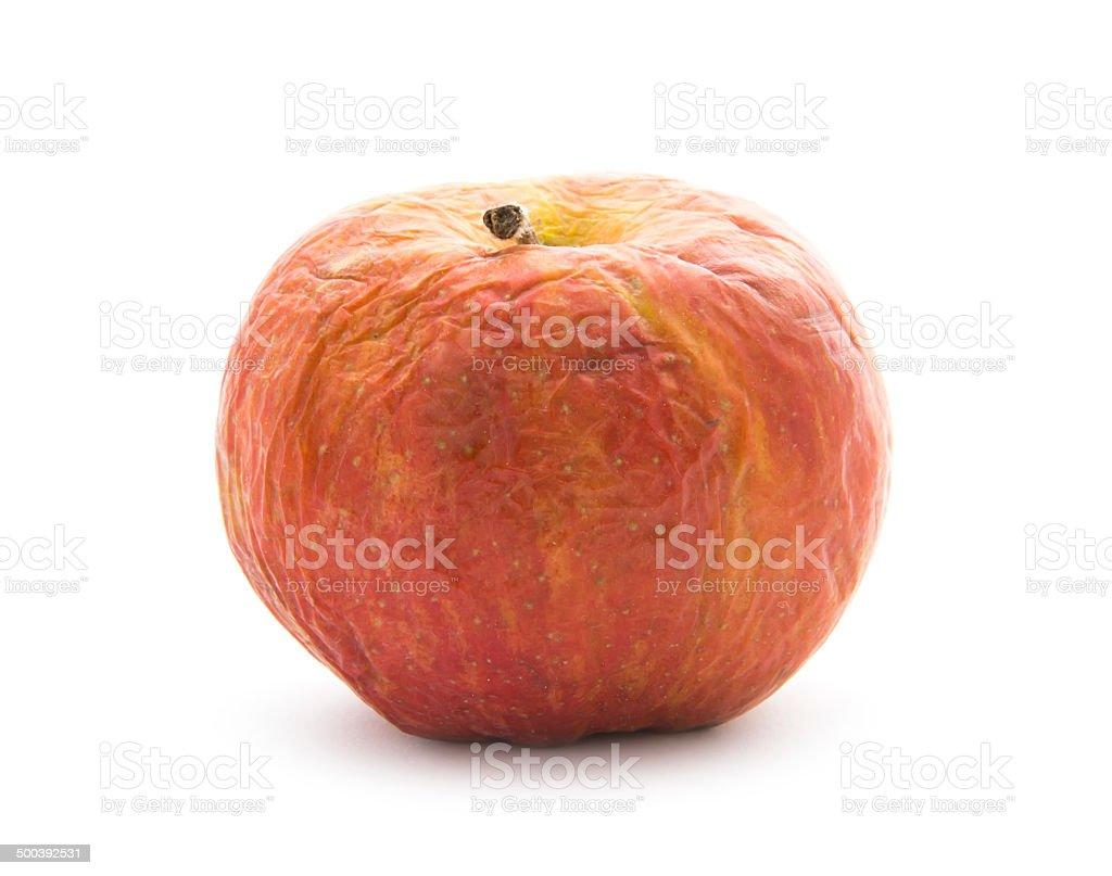 wrinkled apple stock photo