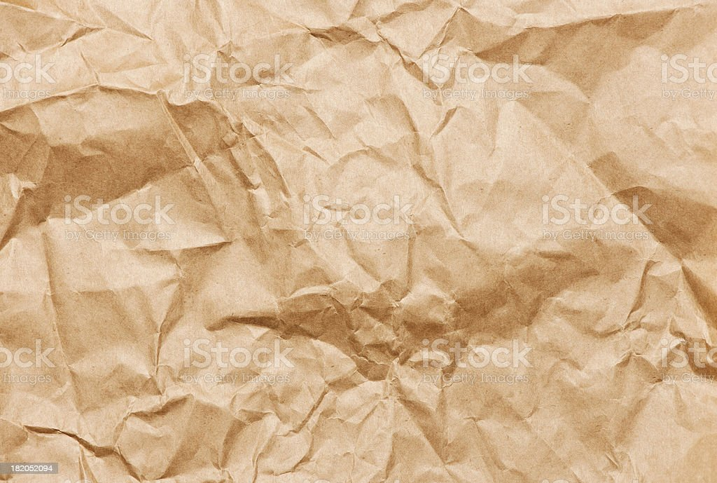 Wrinkled brown paper royalty-free stock photo
