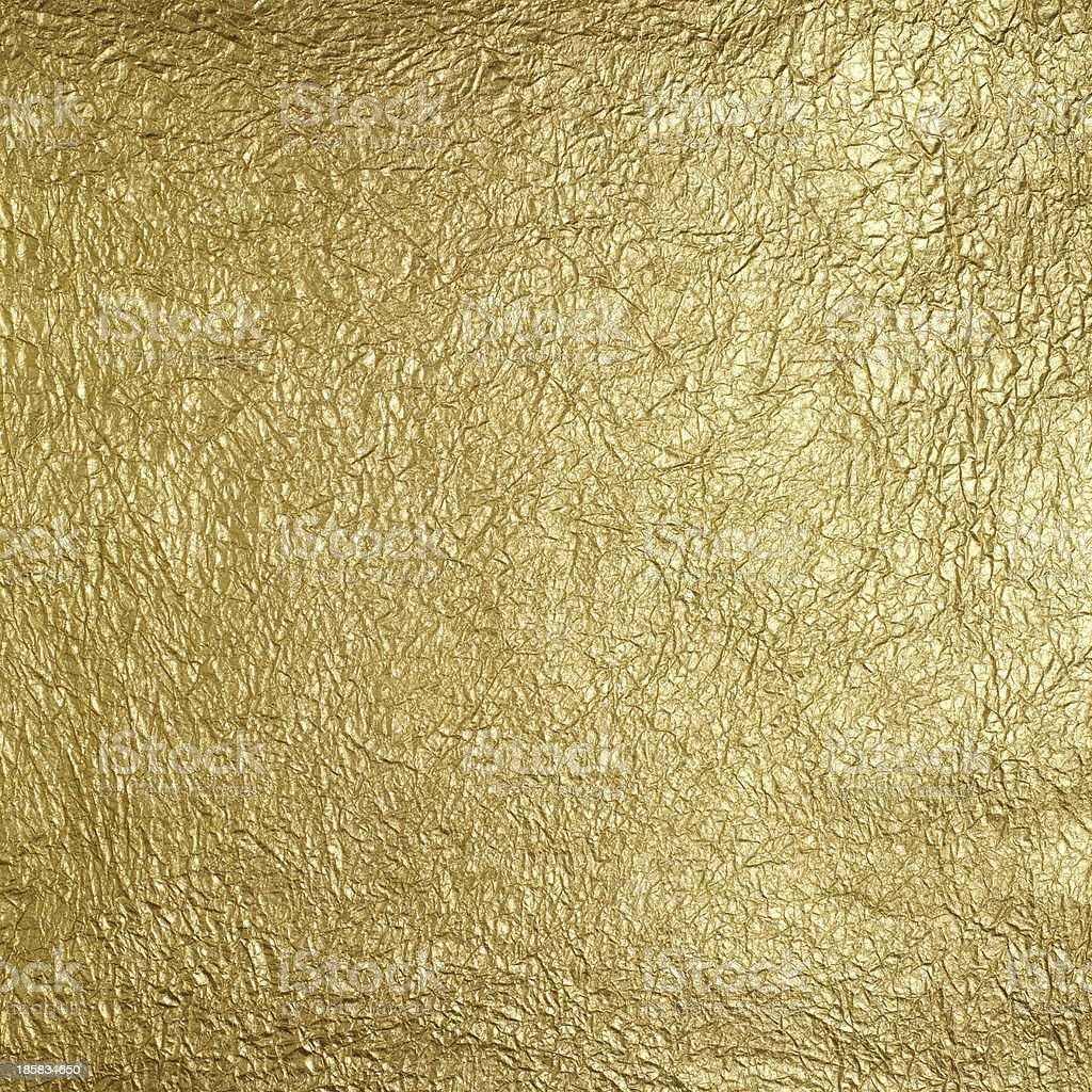 Wrinkled golden surface stock photo