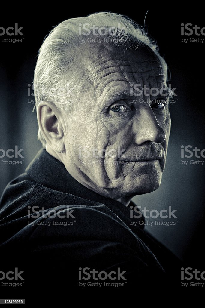 wrinkled man royalty-free stock photo