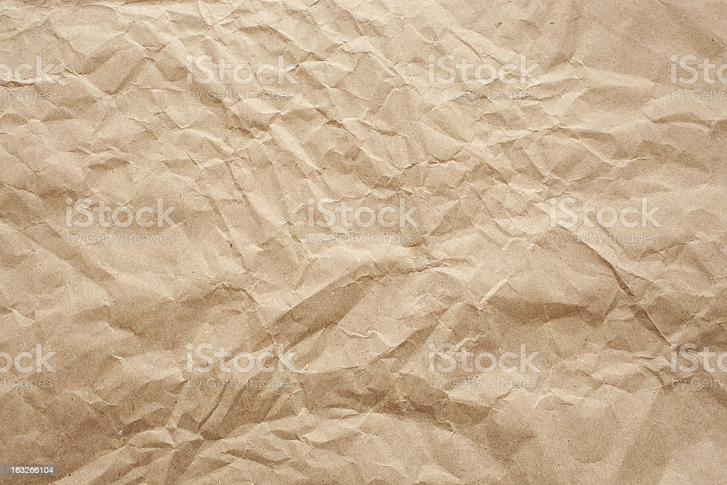 wrinkled old paper texture royalty-free stock photo