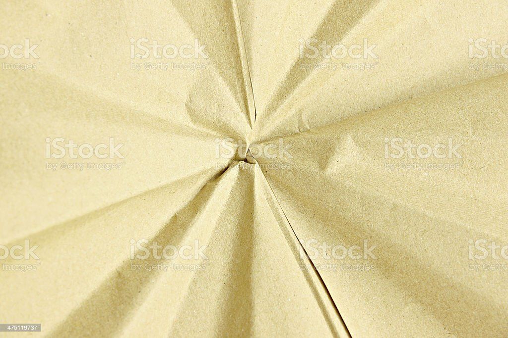 Wrinkled paper box. royalty-free stock photo