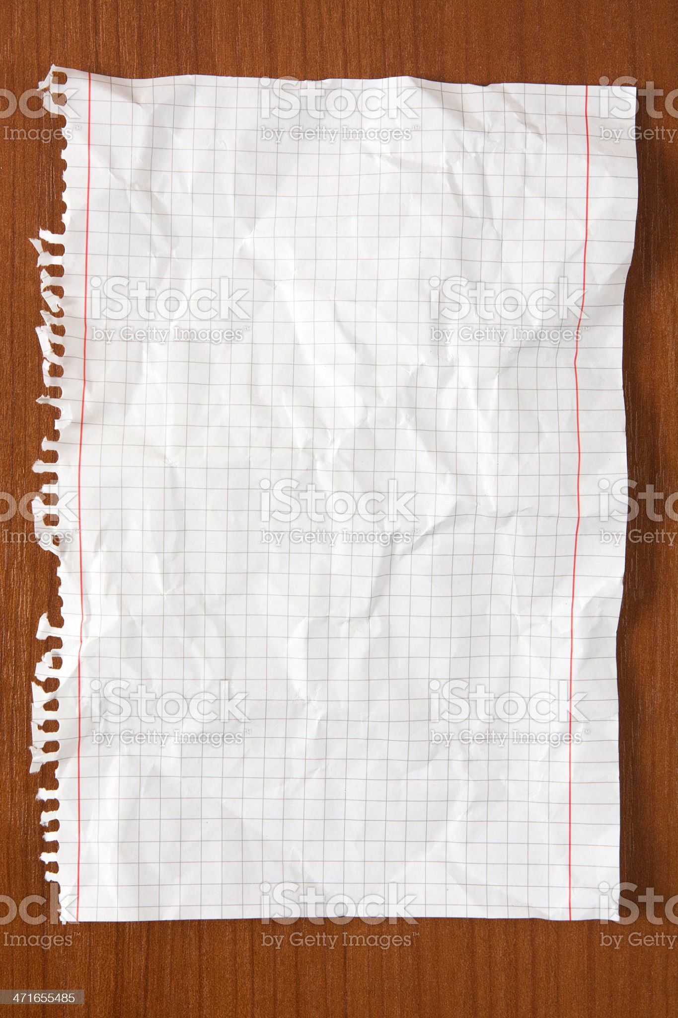 Wrinkled paper on table royalty-free stock photo