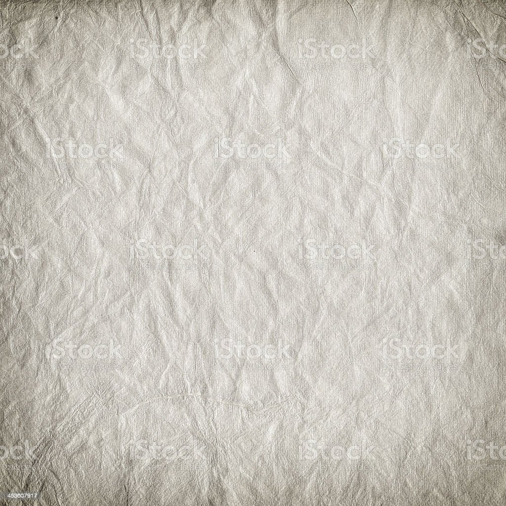 Wrinkled paper texture royalty-free stock photo