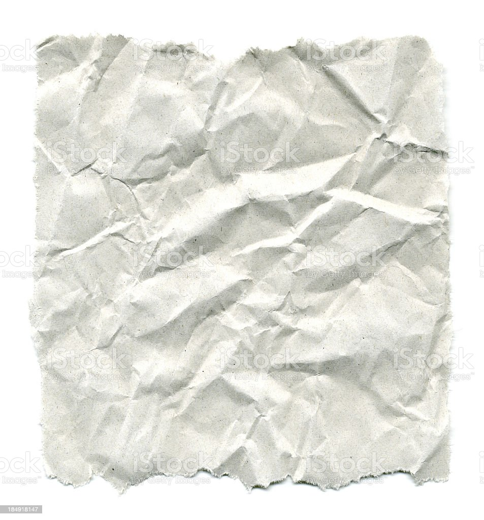 Wrinkled Paper with Torn Edges stock photo