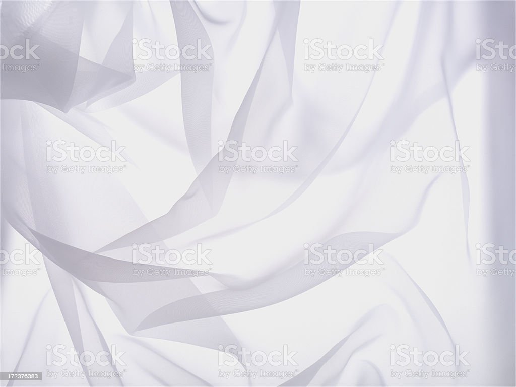 Wrinkled white sheer cloth background stock photo
