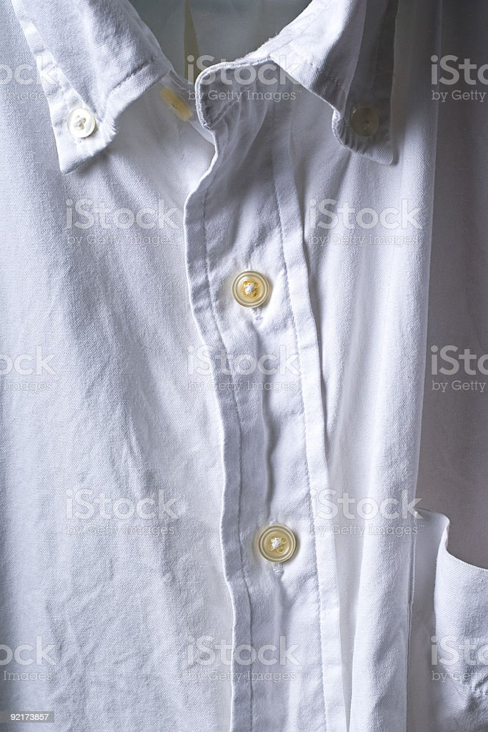 Wrinkled White Shirt royalty-free stock photo