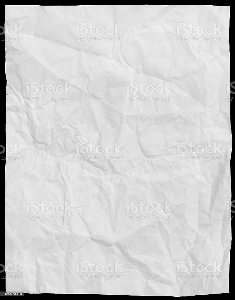 Wrinkled white texture background royalty-free stock photo