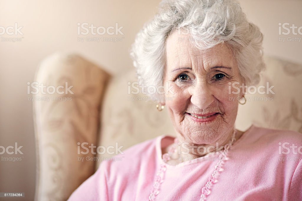 Wrinkles should merely indicate where the smiles have been stock photo