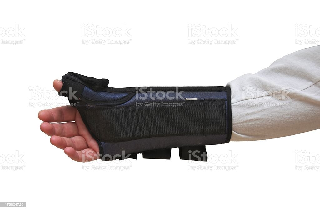 Wrist and Thumb Brace / Splint royalty-free stock photo