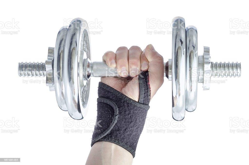Wrist damage rehabilitation. stock photo