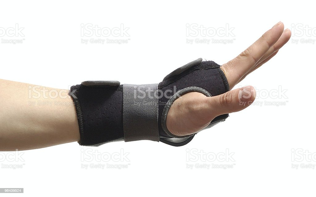 wrist guard isolated on white stock photo