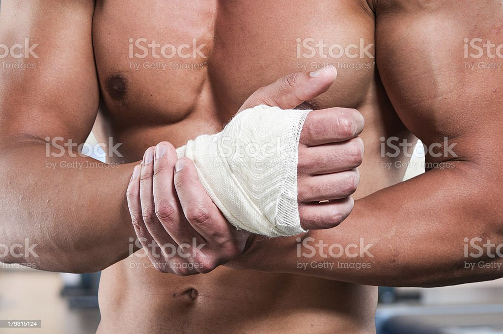 Wrist injury stock photo