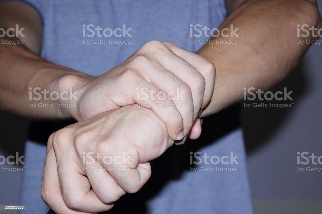wrist Injury royalty-free stock photo