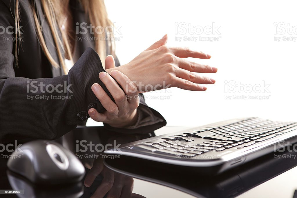 Wrist Pain and Mouse royalty-free stock photo