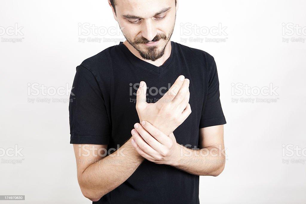 Wrist Pain royalty-free stock photo