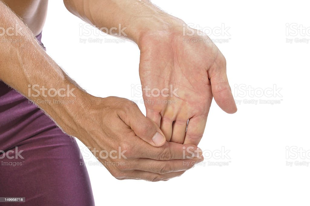 Wrist stretch stock photo